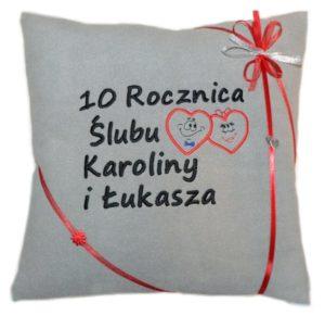 poduszka z imionami rocznica slubu