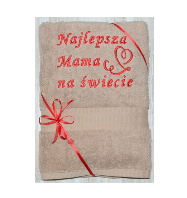 recznik z haftem dla mamy