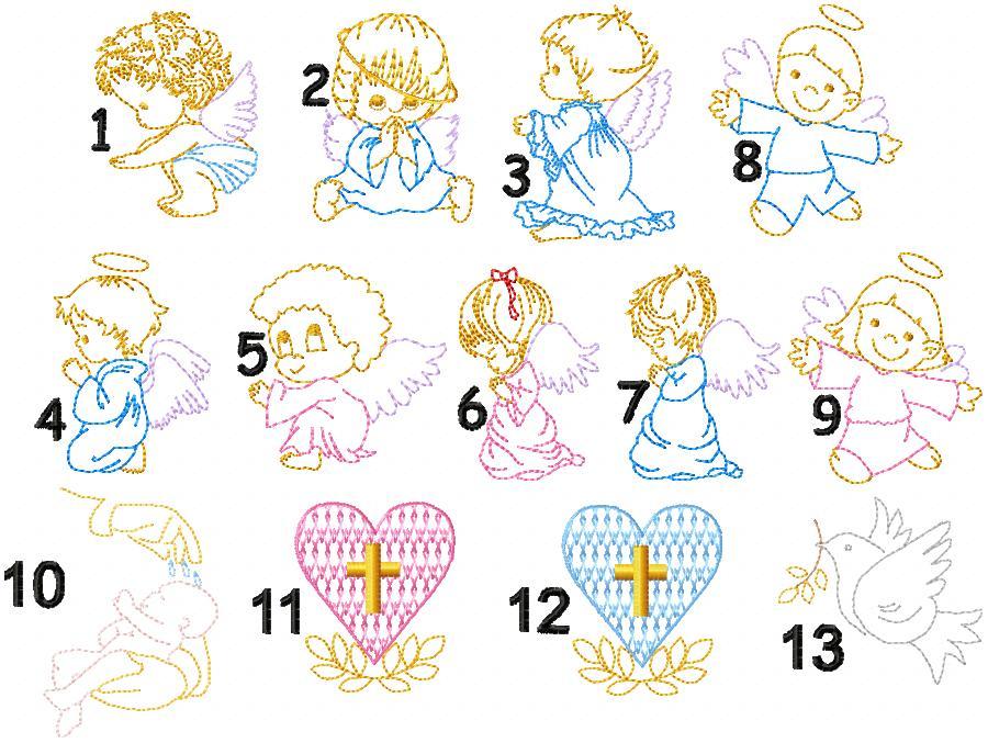 aniolki grafiki na szatki