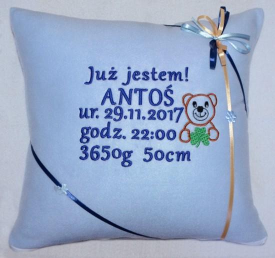 poduszka polarowa z dedykacją