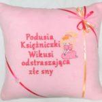 poduszka różowa przeciwko złym snom