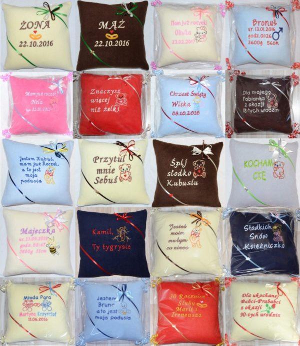 poduszki z dedykacją