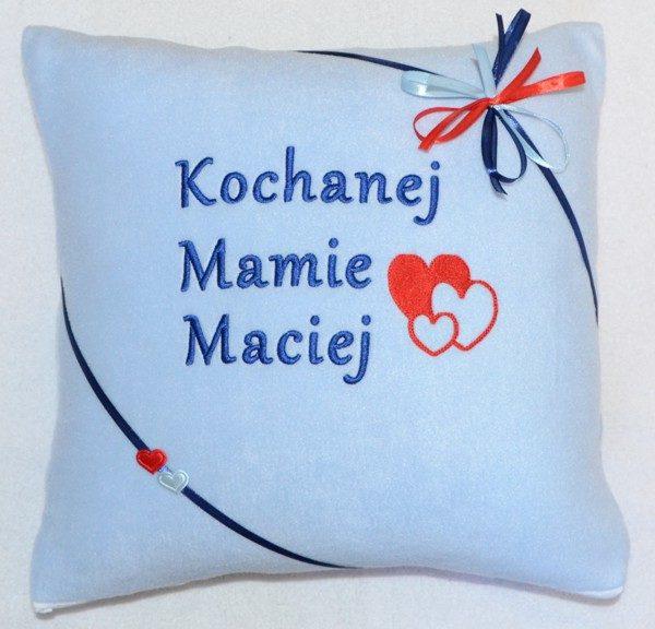 poduszka z haftem na dzień matki