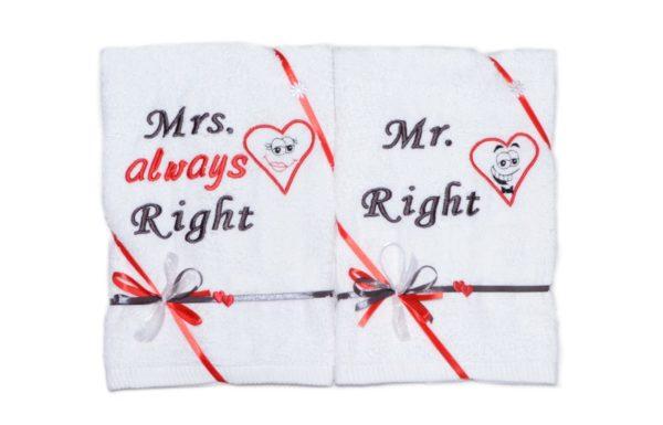 ręczniki z sercem