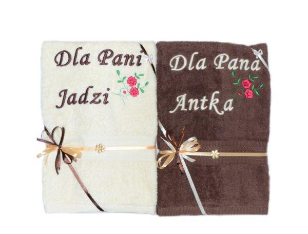 ręcznik z haftem i garfiką