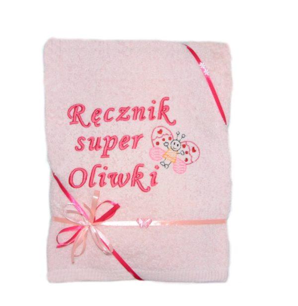różowy ręcznik