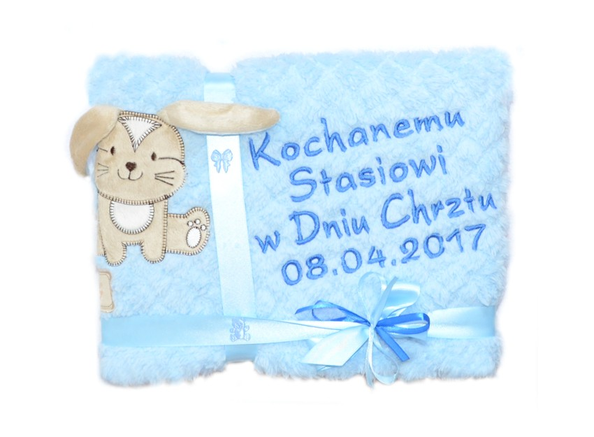 prezent kocyk na chrzest