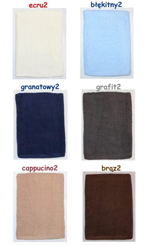 kolory ręczników