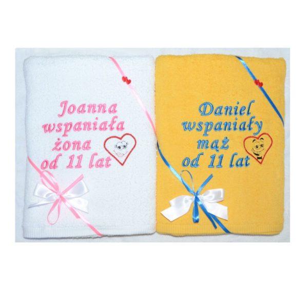 Komplet ręczników na ślub lub rocznicę