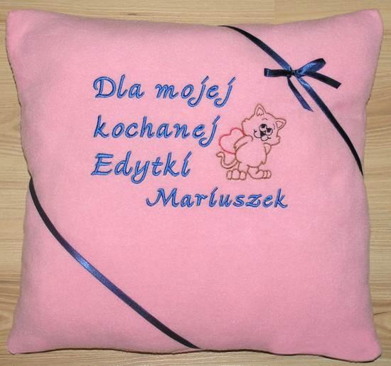 poduszka dla niej dla niego
